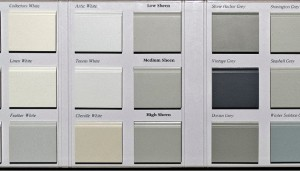 Finish Colors - White, Grey and Sheen Options