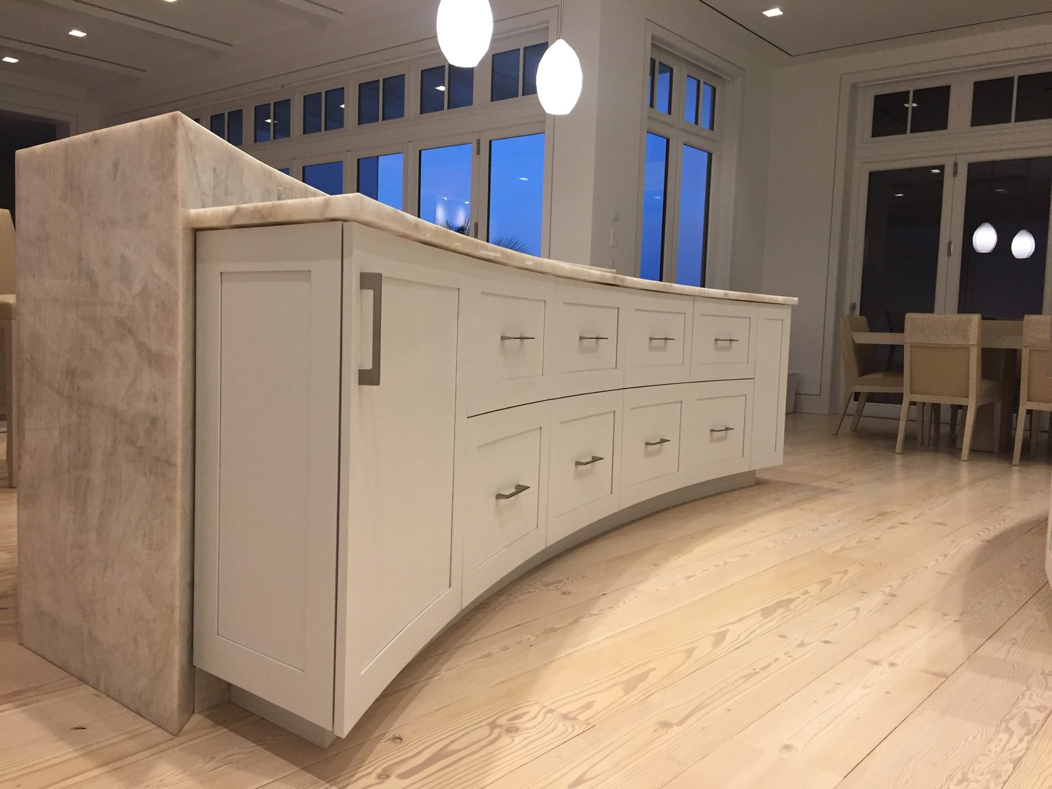 Exceptional Curved Kitchen Craft Maid Handmade Custom Cabinetry