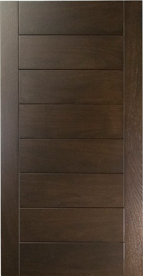 Craft-maid.com introduces the first solid walnut plank door style design for contemporary or transitional kitchens in any wood