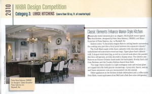 Salerno 1st Place 2010 Large Kitchens