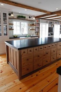 Custom Kitchen Island Stoarge